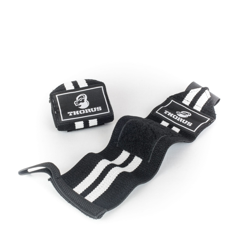 BLACK/WHITE WRIST WRAPS