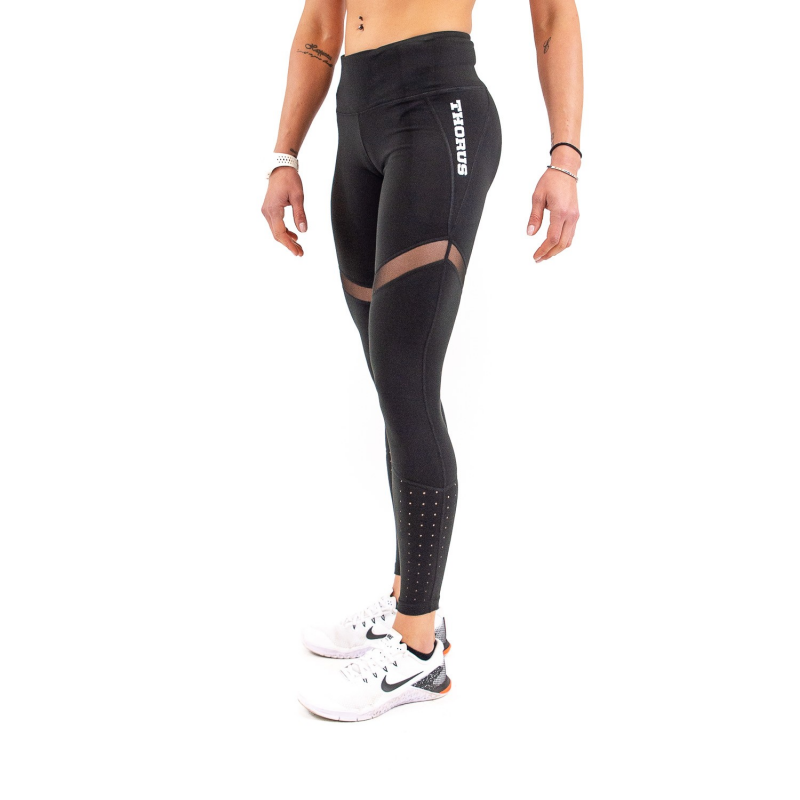 WOMEN'S BLACK LEGGING MESH PLUS
