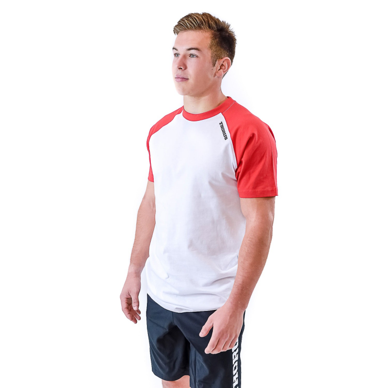 WHITE/RED TSHIRT BICOLOR MEN