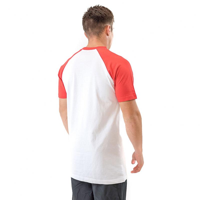 WHITE/RED TSHIRT BICOLOR MEN
