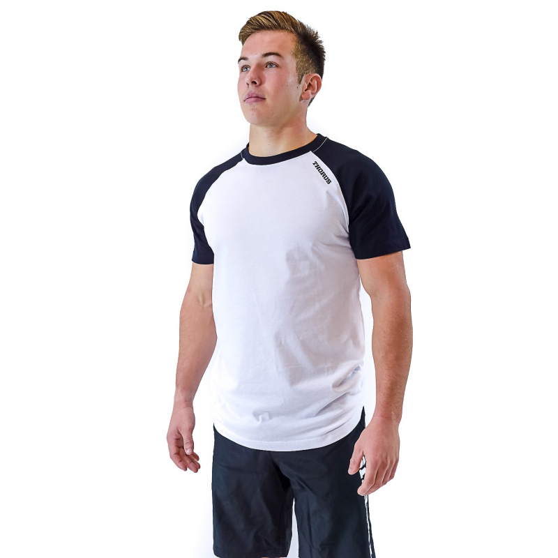 WHITE/BLACK MEN TSHIRT BICOLOR