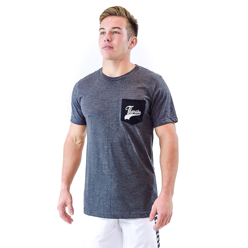 DARK HEATHER GREY TSHIRT POCKET MEN