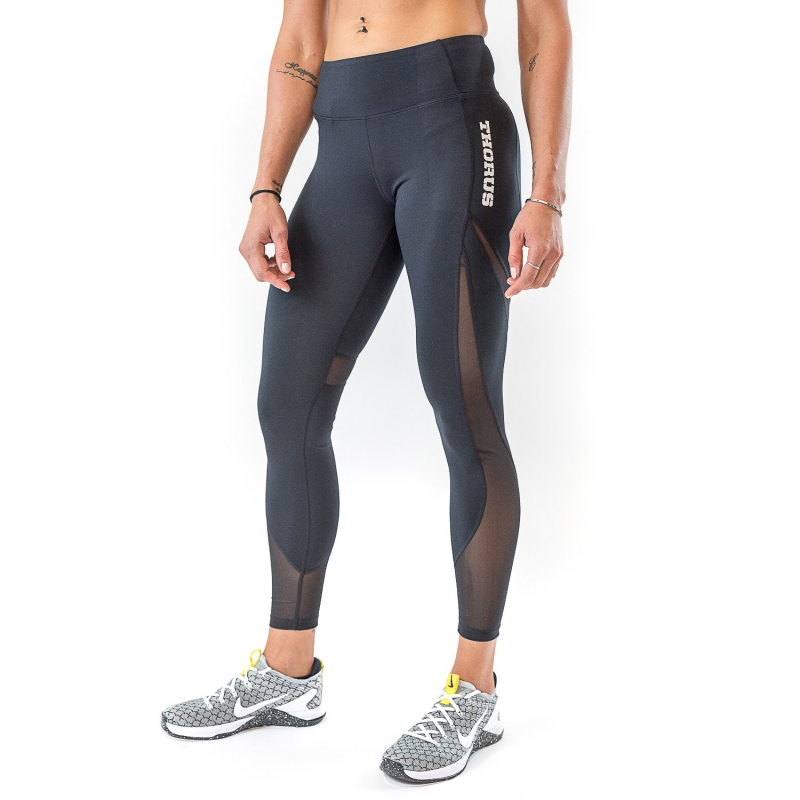 WOMEN'S BLACK LEGGING MESH
