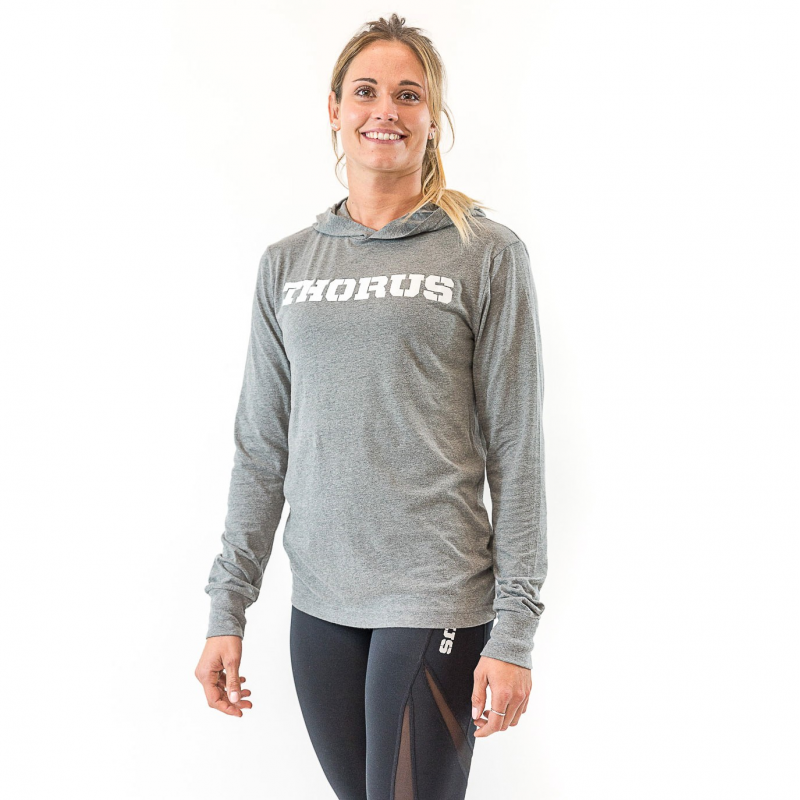 SWEAT LEGER GRIS UNISEXE