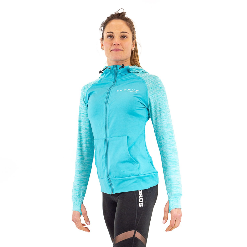 SWEAT SHIRT A CAPUCHE TRAINING TEAL WOMEN
