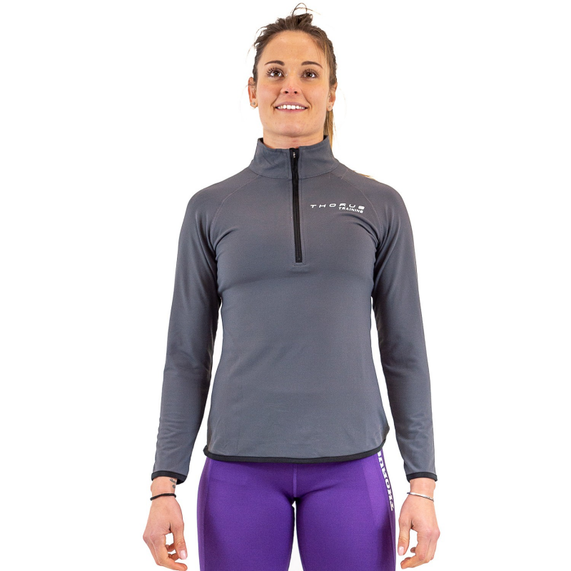 WOMEN'S TRAINING GREY SWEATSHIRT 1/2 ZIP