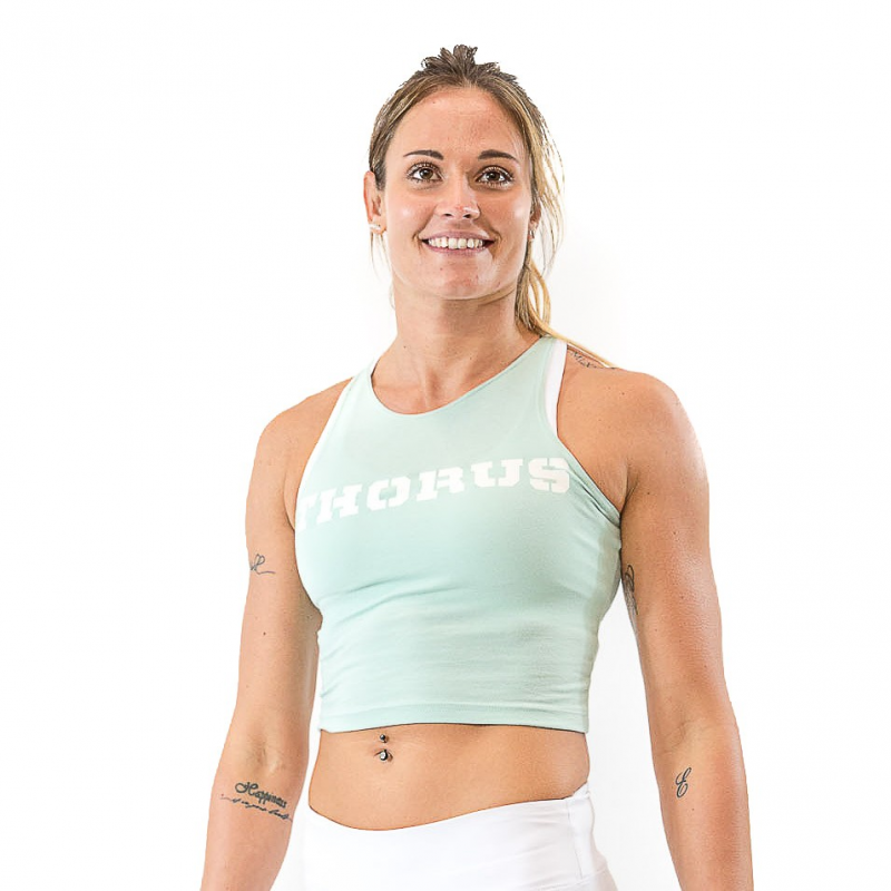 MINT WOMEN'S SLEEVELESS CROP TOP