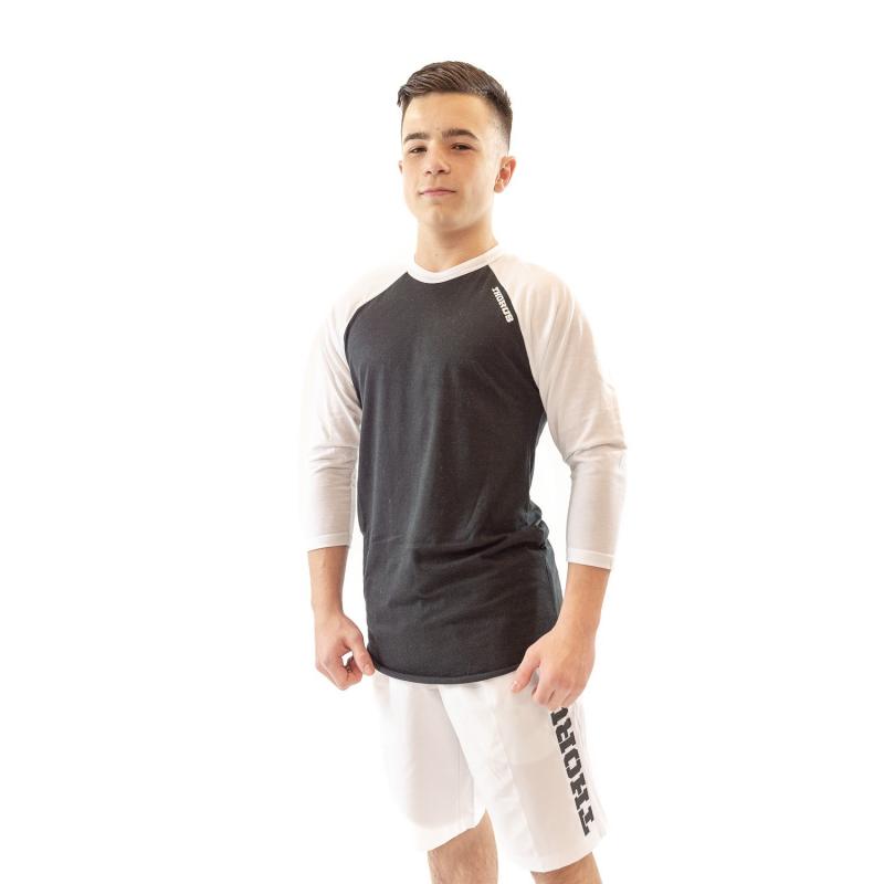 BLACK/WHITE BASEBALL TEE KID