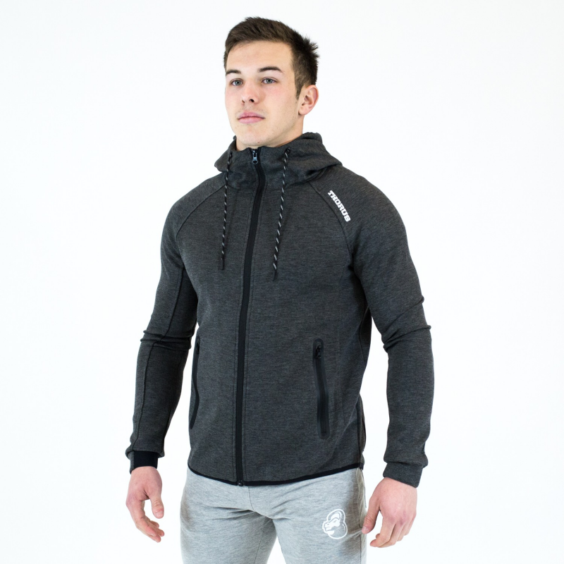 VESTE A CAPUCHE PERFORMANCE DARK HEATHER GREY MEN