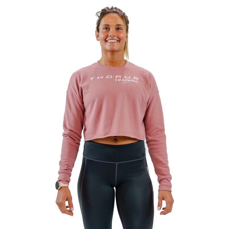 WOMEN'S CROPPED MAUVE PULLOVER