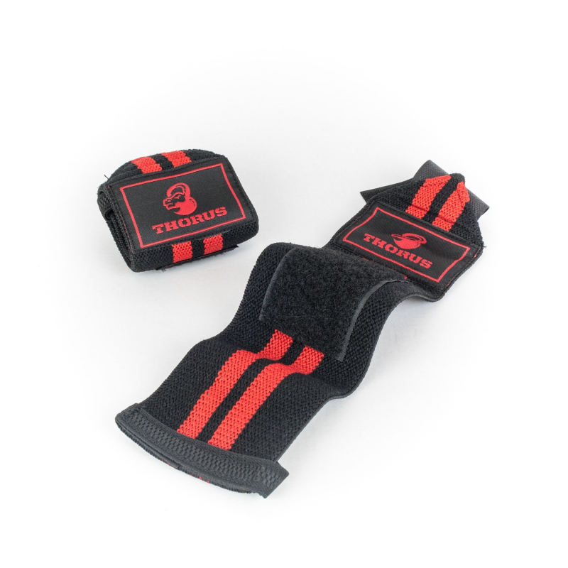 BLACK/RED WRIST WRAPS