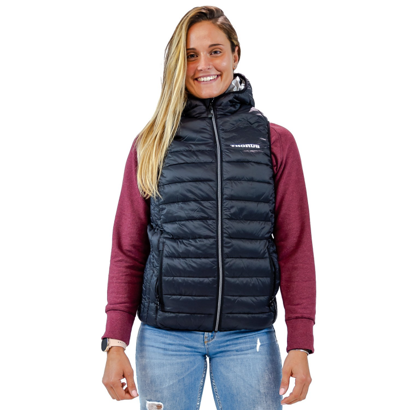 UNISEX SLEEVELESS BLACK DOWN JACKET