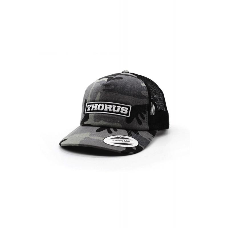 DARK/CAMO BLACK TRUCKER CAP