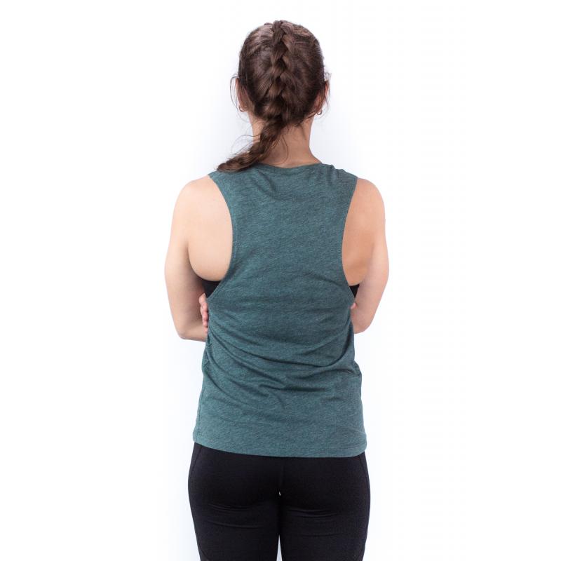 WOMEN'S GREEN FOREST MUSCLE TANK